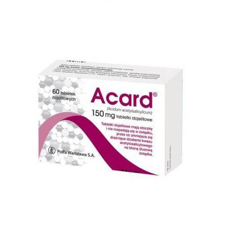 Acard 150 mg * 60 tabletek