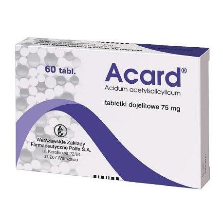 Acard 75 mg * 60 tabletek