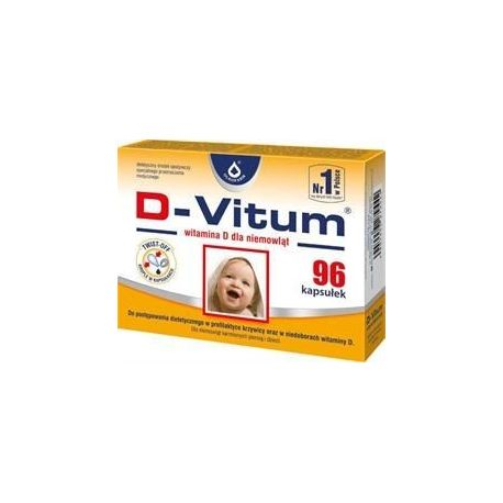 D-Vitum * Witamina D dla niemowląt * 96 kaps. twist - off