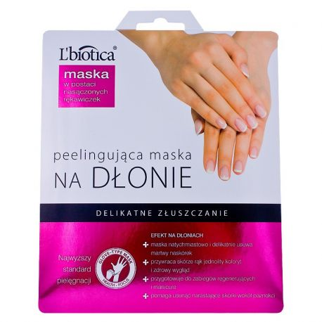 L Biotica * Peelingująca maska na dłonie* w postaci nasączonych rękawiczek