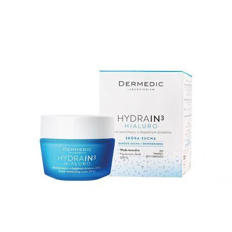 Dermedic Hydrain 3 Hialuro  * Krem nawilżający o dogłęb. dział.- 50 g * + zestaw próbek Dermedic GRATIS !