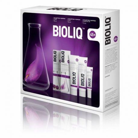 Bioliq 45+  ZESTAW *  Krem ujędrn-wygładzający,na dzień-50ml * + Krem ujędrn-wygładzający,na noc-50ml * +Krem do oczu-15 ml