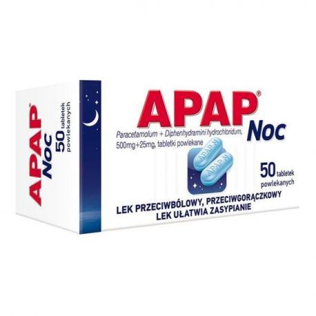 Apap - Noc * 50 tabletek