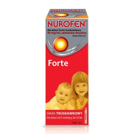 Nurofen Forte - dla dzieci * zawiesina o smaku truskawkowym * 100 ml