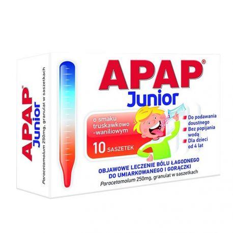 Apap junior - granulat 0,25 g * 10 saszetek