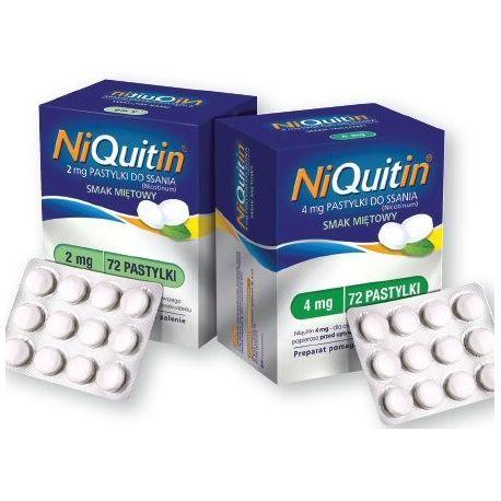 Niquitin 4 mg * pastylki do ssania* 72 sztuki