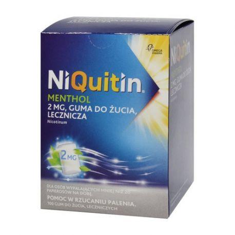 Niquitin Menthol 2 mg * guma do żucia * 100 sztuk