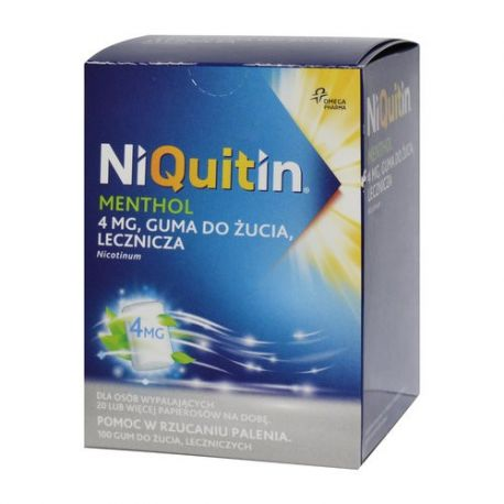 Niquitin Menthol 4 mg * guma do żucia * 100 sztuk