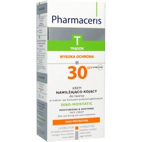 Pharmaceris T Sebomatt -Moistatic * Krem nawilżający do twarzy * 50 ml