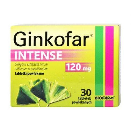 Ginkofar Intense - 0,12 g * 30 tabletek
