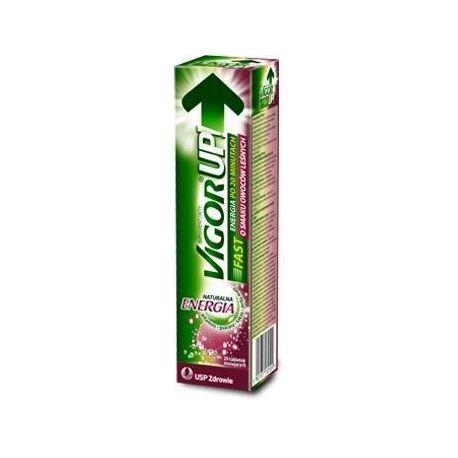 Vigor Up Fast - ENERGIA * tabletki musujące *o smaku owoców leśnych * 20 sztuk