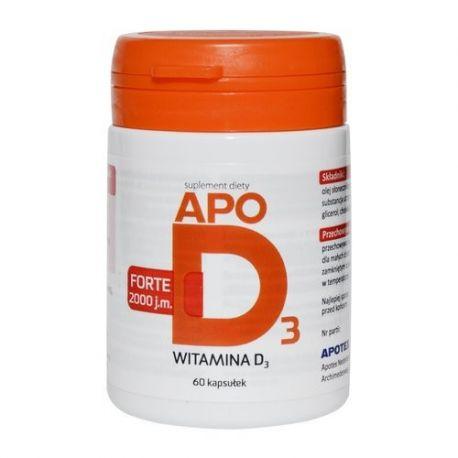ApoD3 Forte * 2000 j. m .* 60 kapsułek