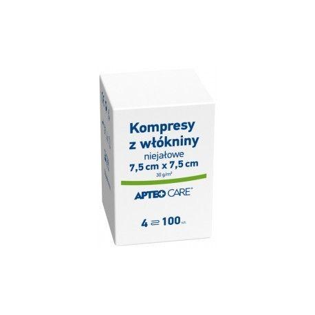 Apteo CARE * kompresy gazowe niejałowe 7,5 x 7,5 * 100 sztuk