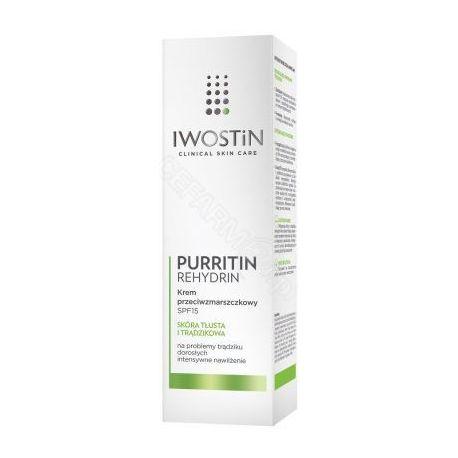 Iwostin * Purritin Rehydrin * krem przeciwzmarszczkowy SPF 15 * 40 ml