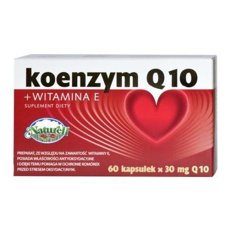 Naturell Koenzym Q10 z Vitaminą E * 60 kapsułek