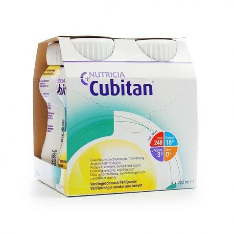 Cubitan * płyn o smaku waniliowym * 4 sztuki a 200 ml
