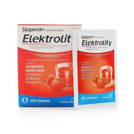 Elektrolity * saszetki o smaku truskawkowym * 5 sztuk