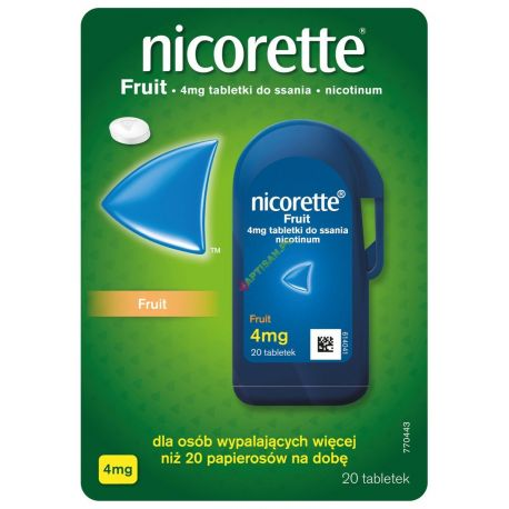 Nicorette Fruit 4mg * 20 tabletek do ssania