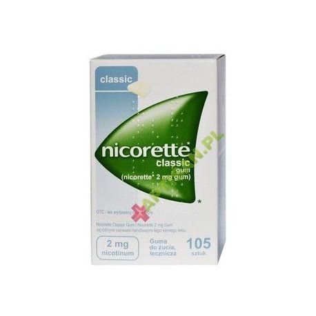 Nicorette Classic Gum * guma 2mg x 105