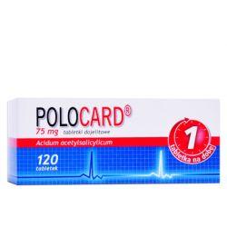 Polocard * tabletki dojelitowe 75 mg  * 120 tabl.