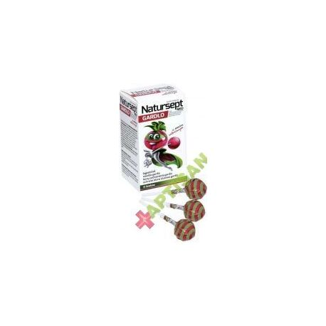 Lizak wiśniowy * NATUR-SEPT MED GARDŁO * 6 sztuk