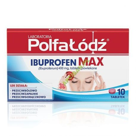 IBUPROFEN MAX  * 10 tabletek