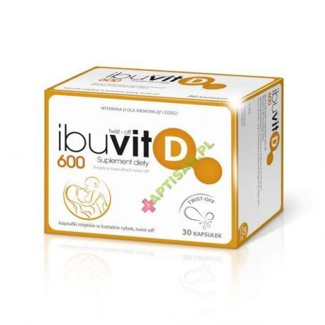 Ibuvit D 600 * Twist-off * 30 kapsułek