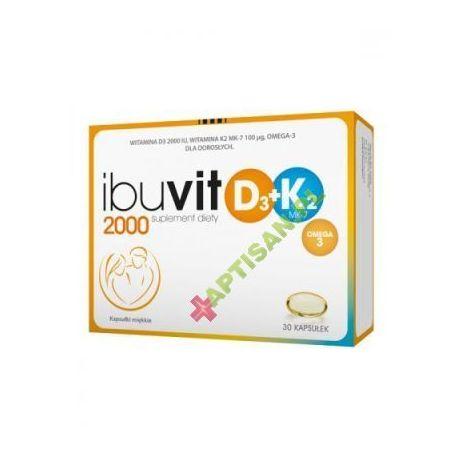 Ibuvit D3 2000 + K2 MK-7 Omega 3 * 30 kapsułek