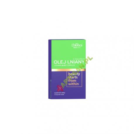 L'biotica  * Olej lniany + witaminy * 30 tabletek