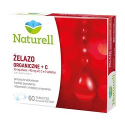Naturell * żelazo +c * 60 tabletek do ssania