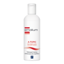 Emolium A-Topic * Trójaktywna Emulsja do kąpieli  * 200 ml