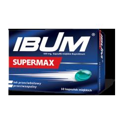 Ibum Supermax kaps.miękkie 0,6g * 10 kaps.