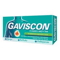 Gaviscon o smaku mięty TAB * 24 tab.