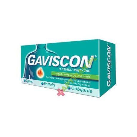 Gaviscon o smaku mięty TAB. * 48 tab.