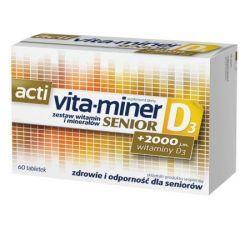 Acti Vita-miner Senior vit.D3 tabletki * 60 tabl.