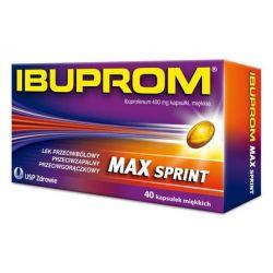 Ibuprom MAX Sprint * kaps.miękkie * 0,4g * 40kaps