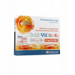 Olimp * Gold-Vit D3 2000 j.m.+K2 * 30 kaps.