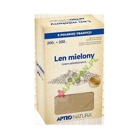 APTEO NATURA * Len mielony * 200g+ 200g