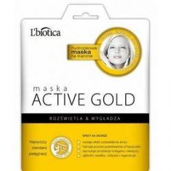 L Biotica Actv Gold * Maska  hydrożelowa na tkaninie * 1 szt
