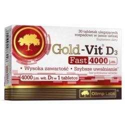 Olimp Gold Vit D3 4000j. * tabletki ulegające rozpadowi w jamie ustnej * 30 sztuk
