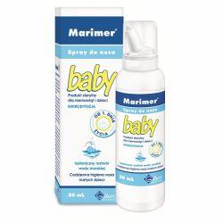Marimer Baby * woda morska - spray izotoniczny do nosa dla dzieci od urodzenia * 50 ml