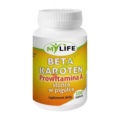 Beta Karoten * Prowitamina A * Słońce w pigułce * 100 tabletek