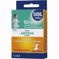 Solbaby Aroma * Plastry z olejkami eterycznymi * Dla dzieci po 18 miesiącu * 5 sztuk