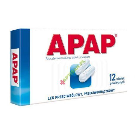 Apap 0,5 g * 12 tabletek