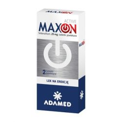 MAXON ACTIVE * Sildenafil - 25 mg * 2 tabletki powlekane