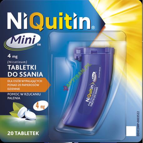 Niquitin Mini do ssania 4 mg * 20 tabletek