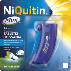 Niquitin Mini do ssania * 1.5 mg * 20 tabletek
