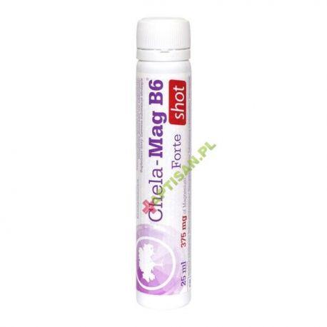 Olimp Chela-Mag B6 Forte Shot * płyn w ampułce o smaku pomarańczowym * 25 ml