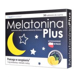 Melatonina Plus * 30 tabletek do ssania