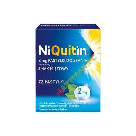 Niquitin 2 mg * pastylki do ssania * 72 sztuki